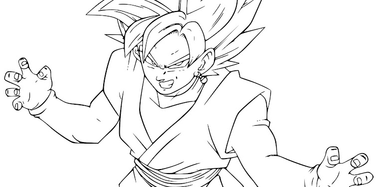 Dragon Ball Super Goku Black Coloring Pages