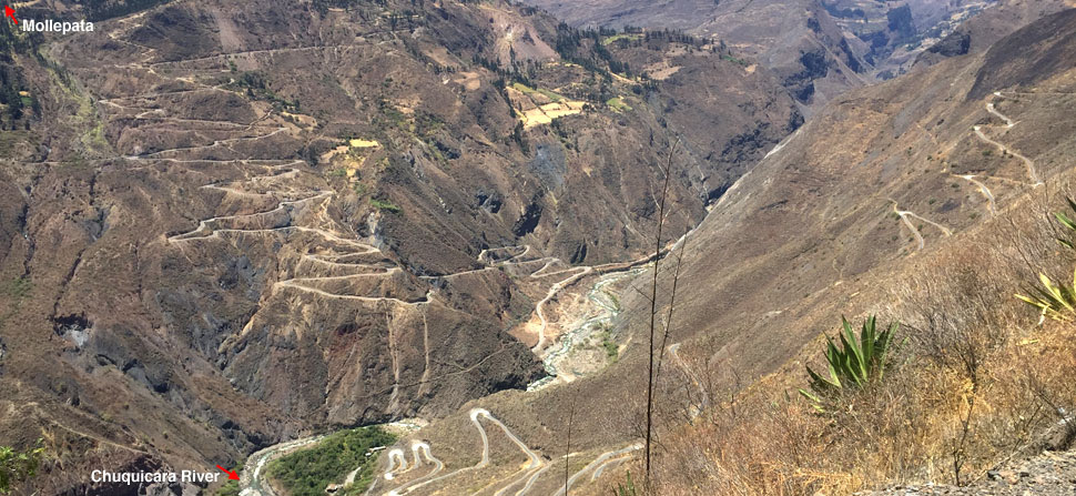 Switchbacks in the Andes