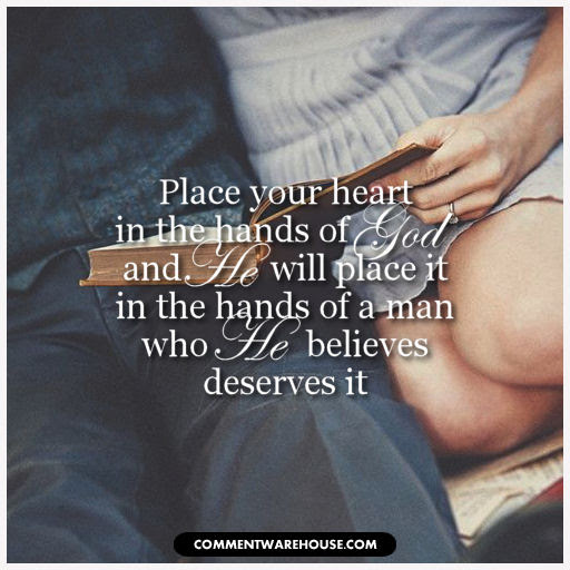 Religious Quotes Place Your Heart In The Hands Of God