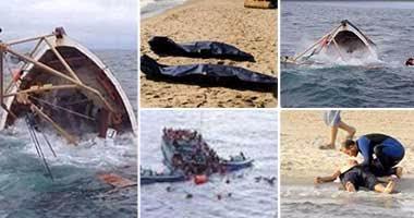 """بالصور.. 8 مشاهد تكتب مأساة جديدة فى مسلسل الهجرة غير الشرعية.. غرق قارب يحمل 300 شخص قبالة سواحل رشيد.. ومصرع 38 وإنقاذ 150.. """"الصحة"""" تدفع بـ15 سيارة إسعاف.. واستمرار جهود البحث عن ضحايا جدد"""