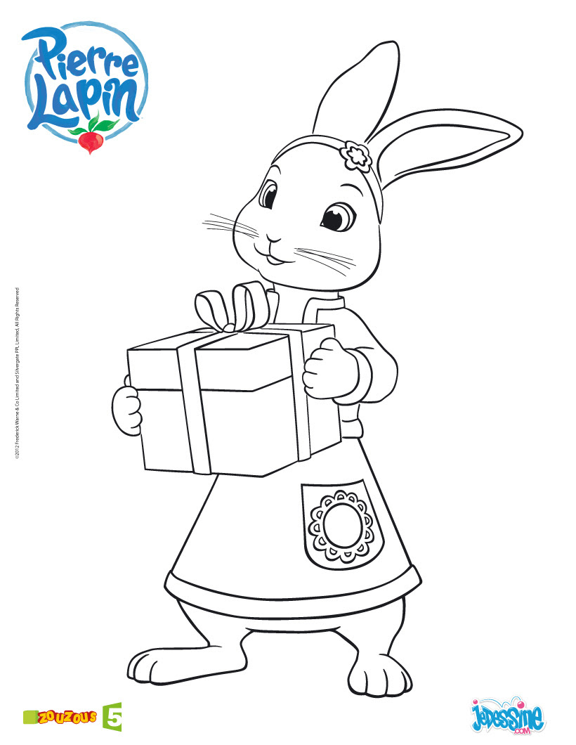 Coloriage Pierre Lapin