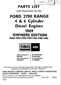 Ford Diesel Engine Manuals - MARINE DIESEL BASICS