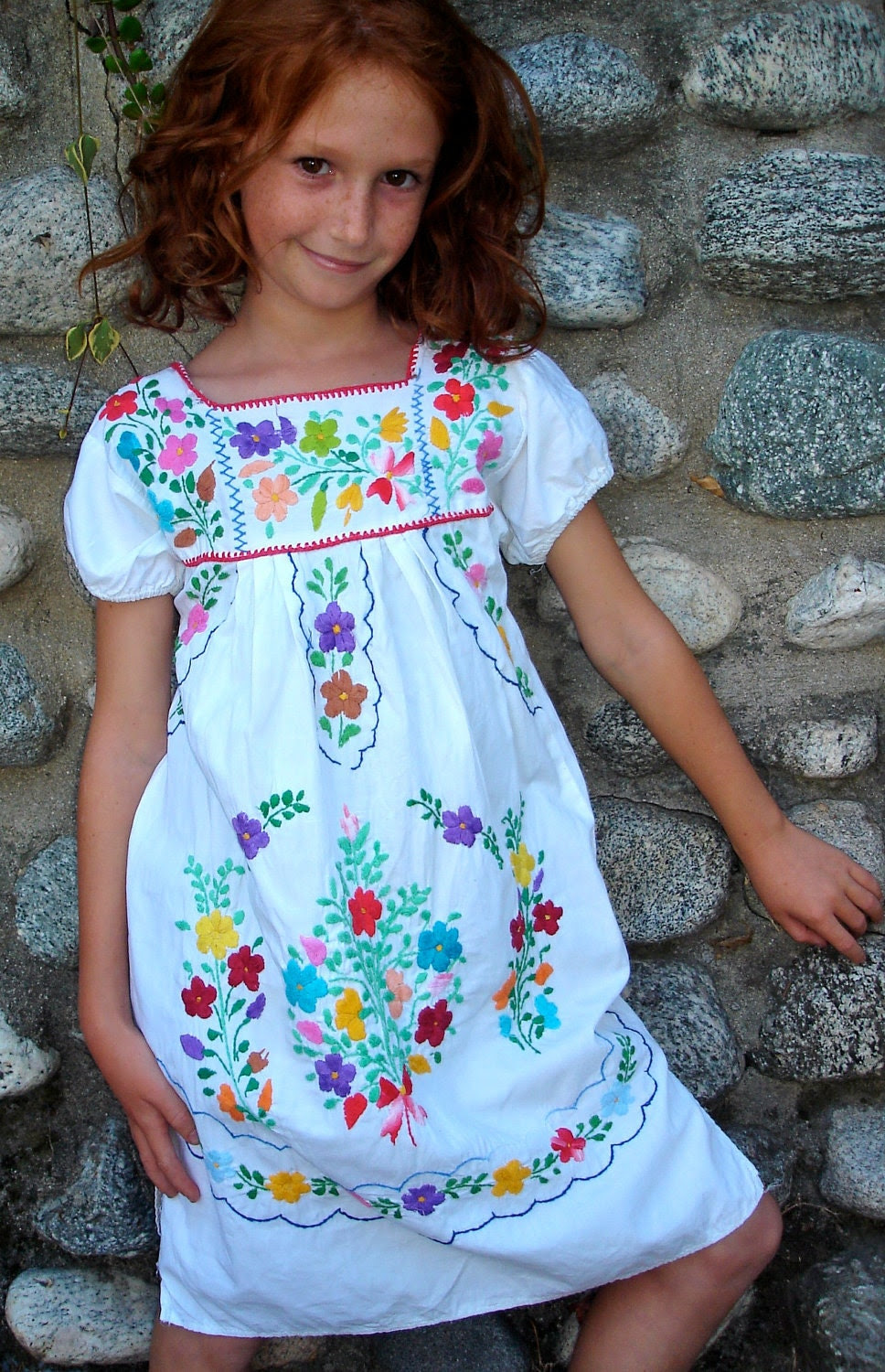 mexican cutie little girls vintage mexican dress hand