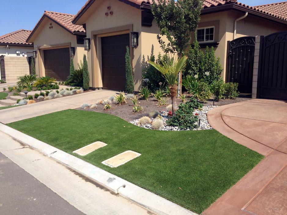 Faux Grass Big Park Arizona Landscape Rock Front Yard Design