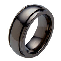 Wedding Black Zirconium Band - absolutetitanium.com