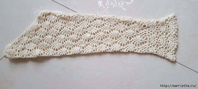 White openwork crochet blouse.  Diagrams (21) (660x296, 122Kb)