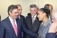 Marina Silva anuncia seu apoio formal à candidatura de Aécio Neves à presidência