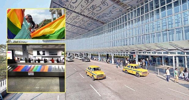 Kolkata Airport's Conveyor Belt Gets A Colorful Makeover After Sec 377 Verdict
