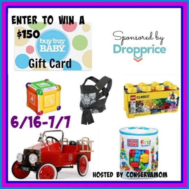 Enter the $150 Buy Buy Baby Gift Card Giveaway. Ends 7/7
