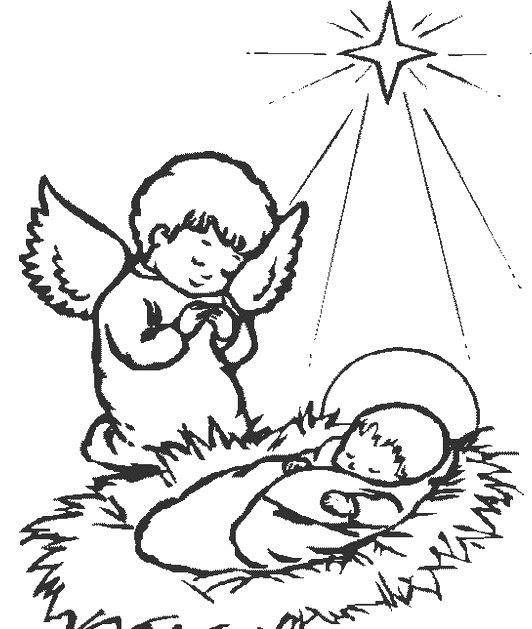 Dibujo De Niño Jesus Para Colorear