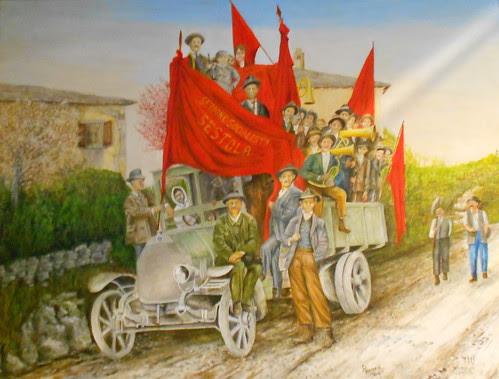 Ritorno dal comizio della sezione socialista Sestola 1919