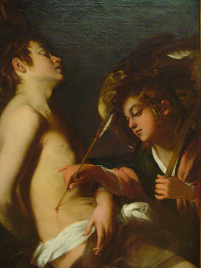 Angel Tending to St. Sebastian