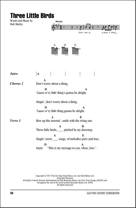 Bob Marley Three Little Birds Lyrics Free Download