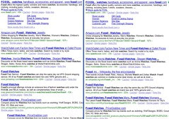 Google SERPs Case Sensitive - Fossil Watches