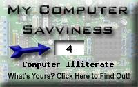 My computer geek score is greater than 4% of all people in the world! How do you compare? Click here to find out!