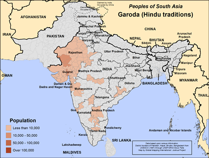 Garoda, Hindu in India