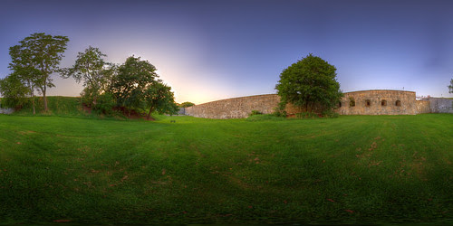 Outside the Citadel - Quebec City Pano