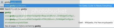 Google Chrome Omnibar