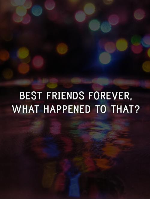 Best Friends Forever What Happened To That Picture Quotes