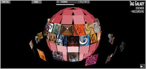 Tag Galaxy: montando un planeta de fotos sobre un tag