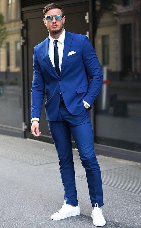 Latest Coat Pant Designs Royal Blue Wedding Suits For Men