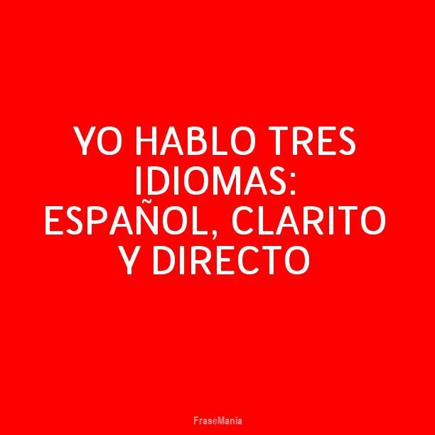 Cartel Para Yo Hablo Tres Idiomas Español Clarito Y Directo