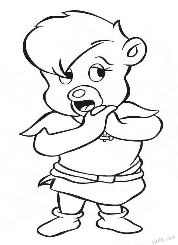 40dkcom Gummi Bears Boyama Sayfası 1 40dk Eğitim Bilim