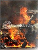 Ford Pinto pega fogo