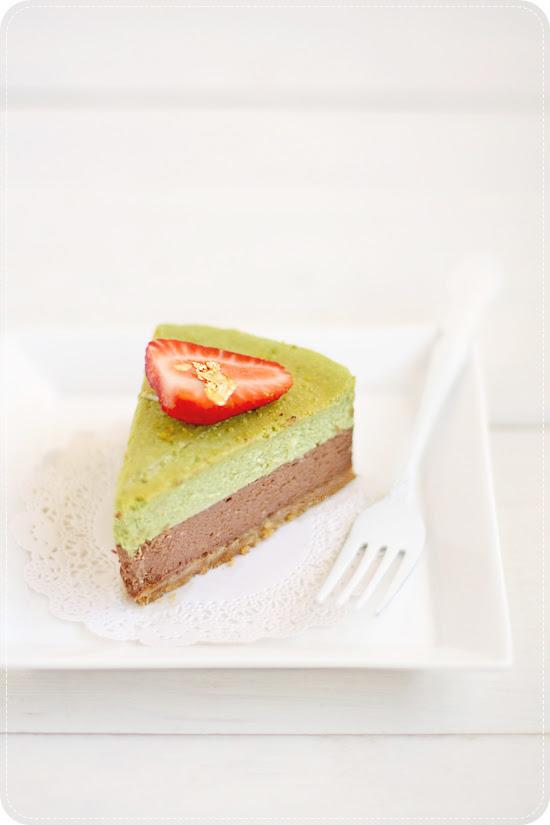 Matcha Chocolate Cheesecake