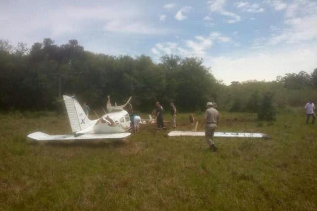 Queda de aeronave mata dois tripulantes em Espumoso Divulgação/Brigada Militar