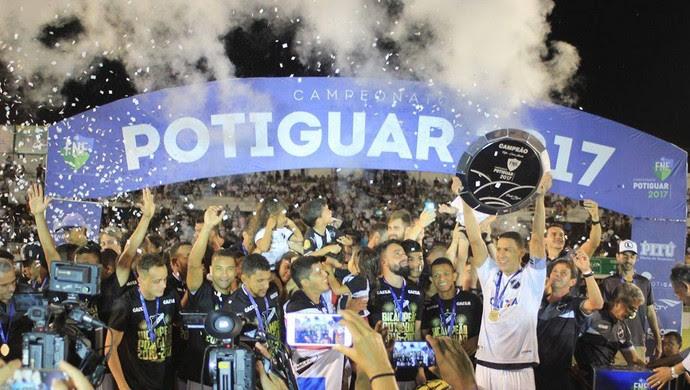 ABC campeão potiguar 2017 (Foto: Fabiano de Oliveira/GloboEsporte.com)