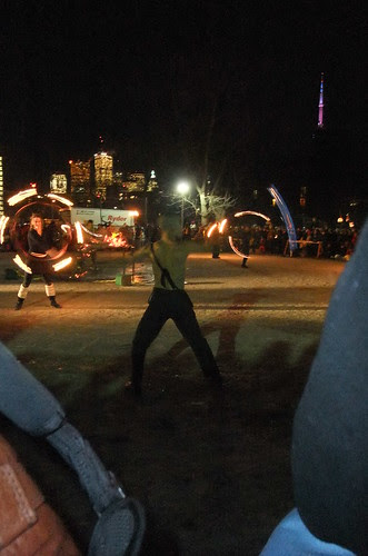 Solstice fire dancers
