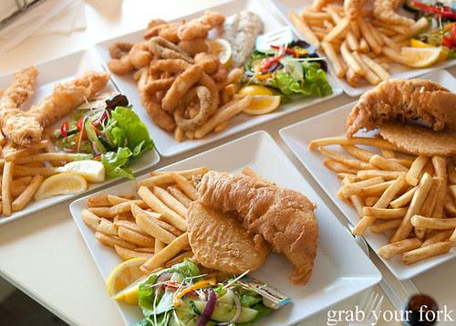 Deep fried seafood plates at Kangaroo Island Fresh Seafoods