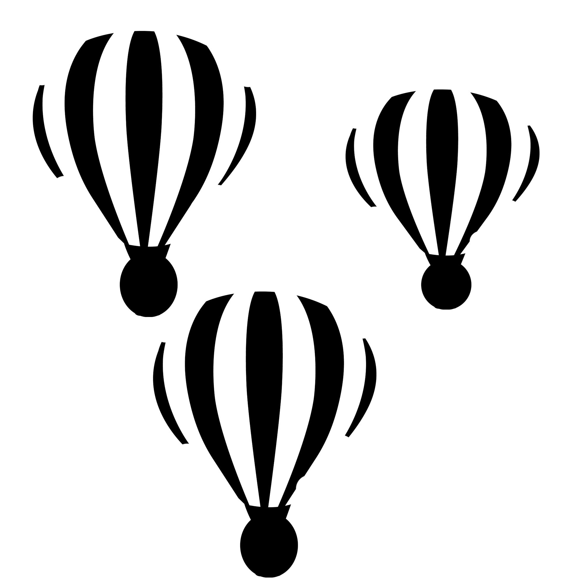 hot air balloons  poly template 8x8 sold in 3\'s