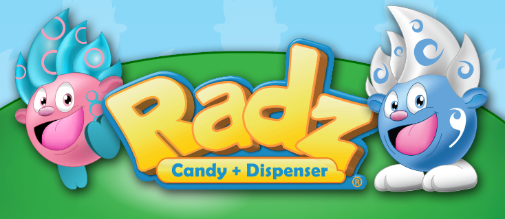 Image result for Radz Candy Dispensers logo
