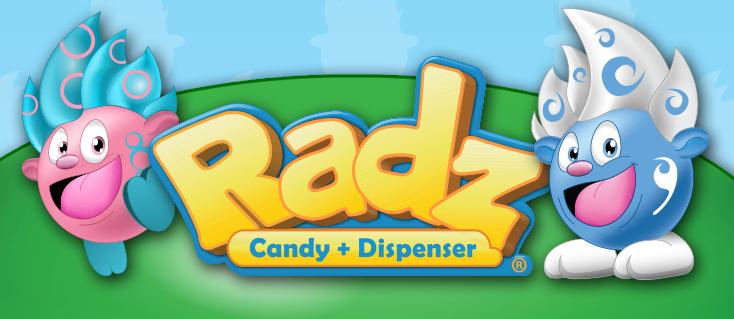 Image result for Radz Candy Dispensers logo
