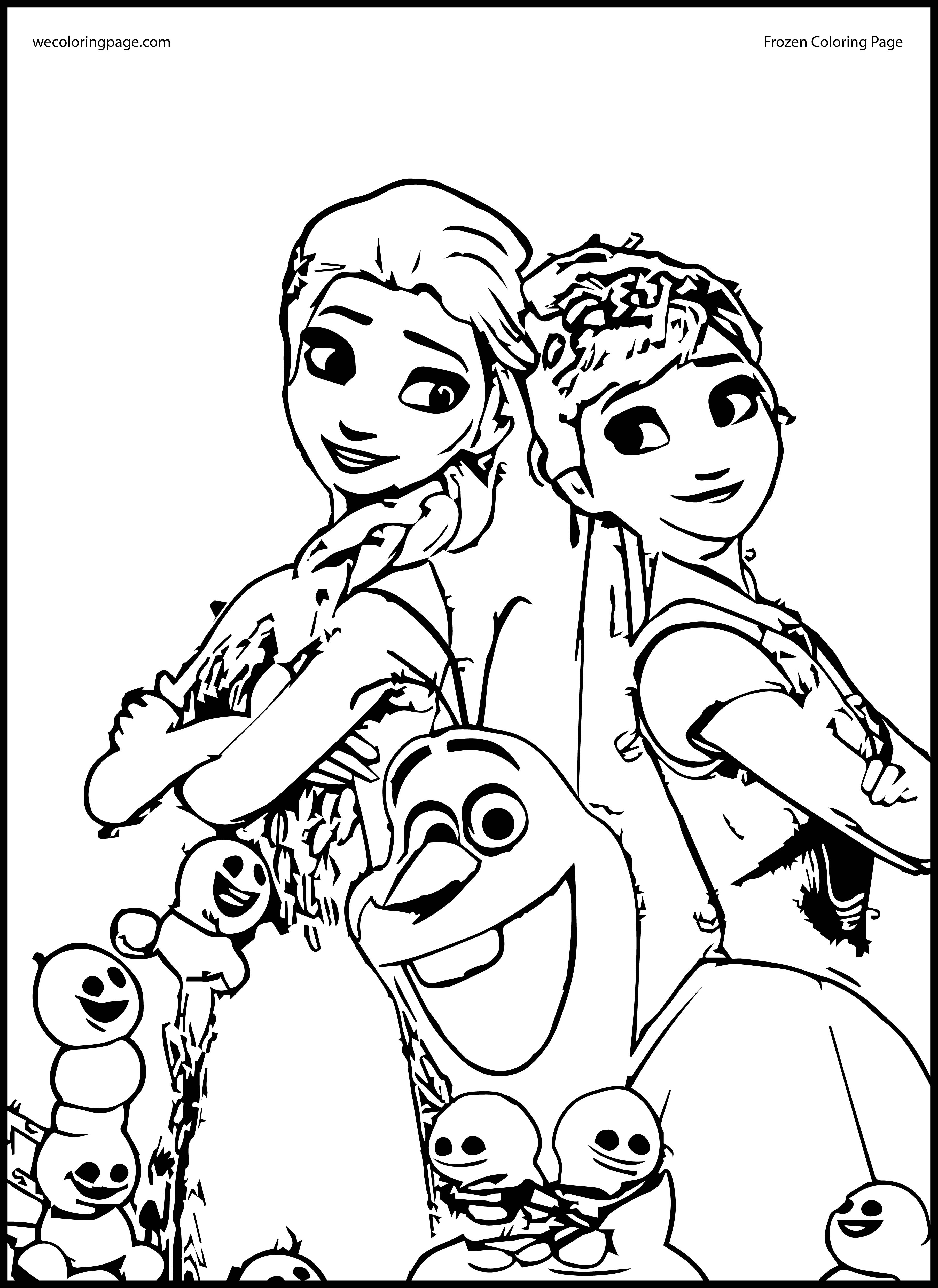 Elsa And Anna Coloring Pages - Coloring Home
