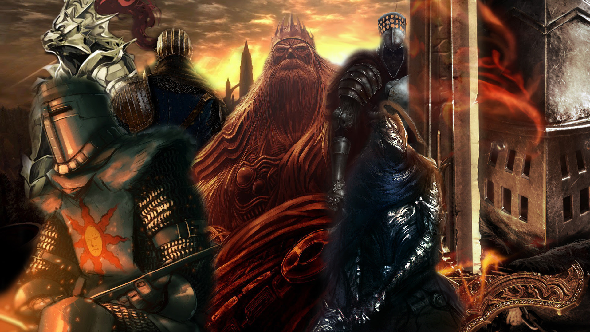 Created A Dark Souls Wallpaper Out Of My Favorite Fan Arts