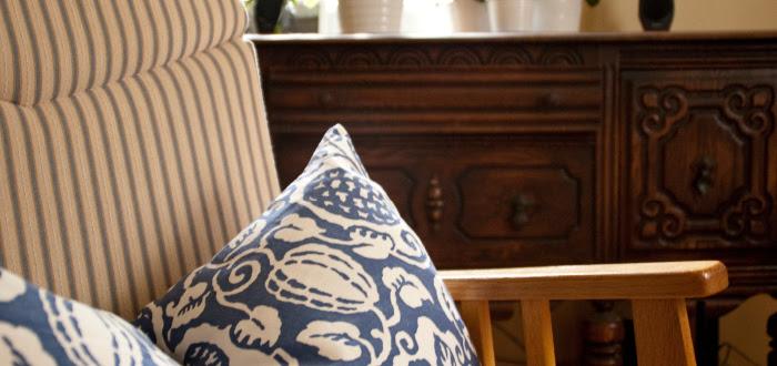 dash dot dotty dashdotdotty house tour interiors tan comfortable modern ikea mixed prints pillows powerclashing