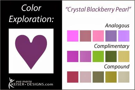 Eva Maria Keiser Designs: Explore Color: Crystal Blackberry Pearl