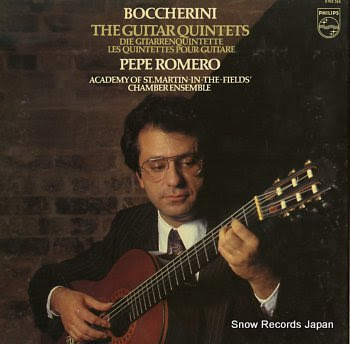 ROMERO, PEPE boccherini; the guitar quintets