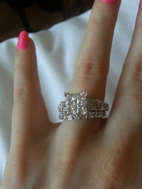3 carat princess cut diamond engagement ring!   COPY MY