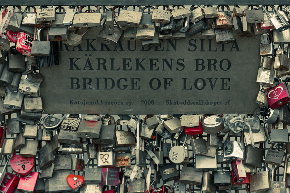 Bridge Of Love In Helsinki Finland