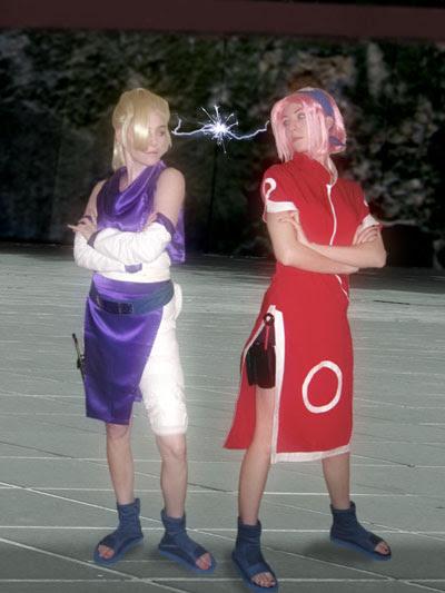 Sakura and Ino having a good stare