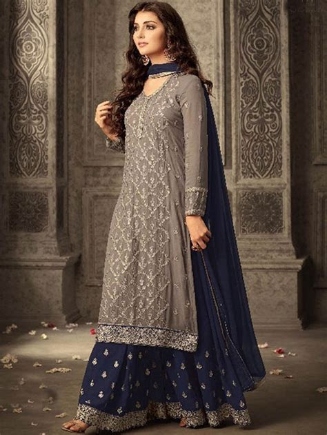 designer stylish party wear indian ethnic embroidery