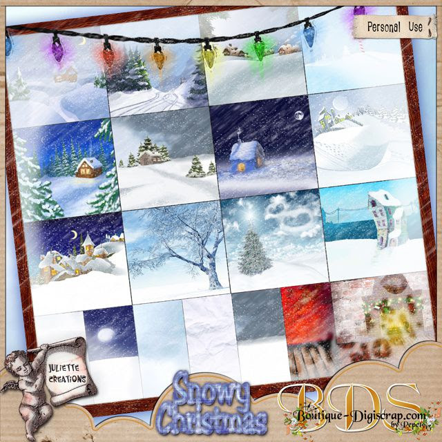 Juliette Snowy Christmas papiers preview