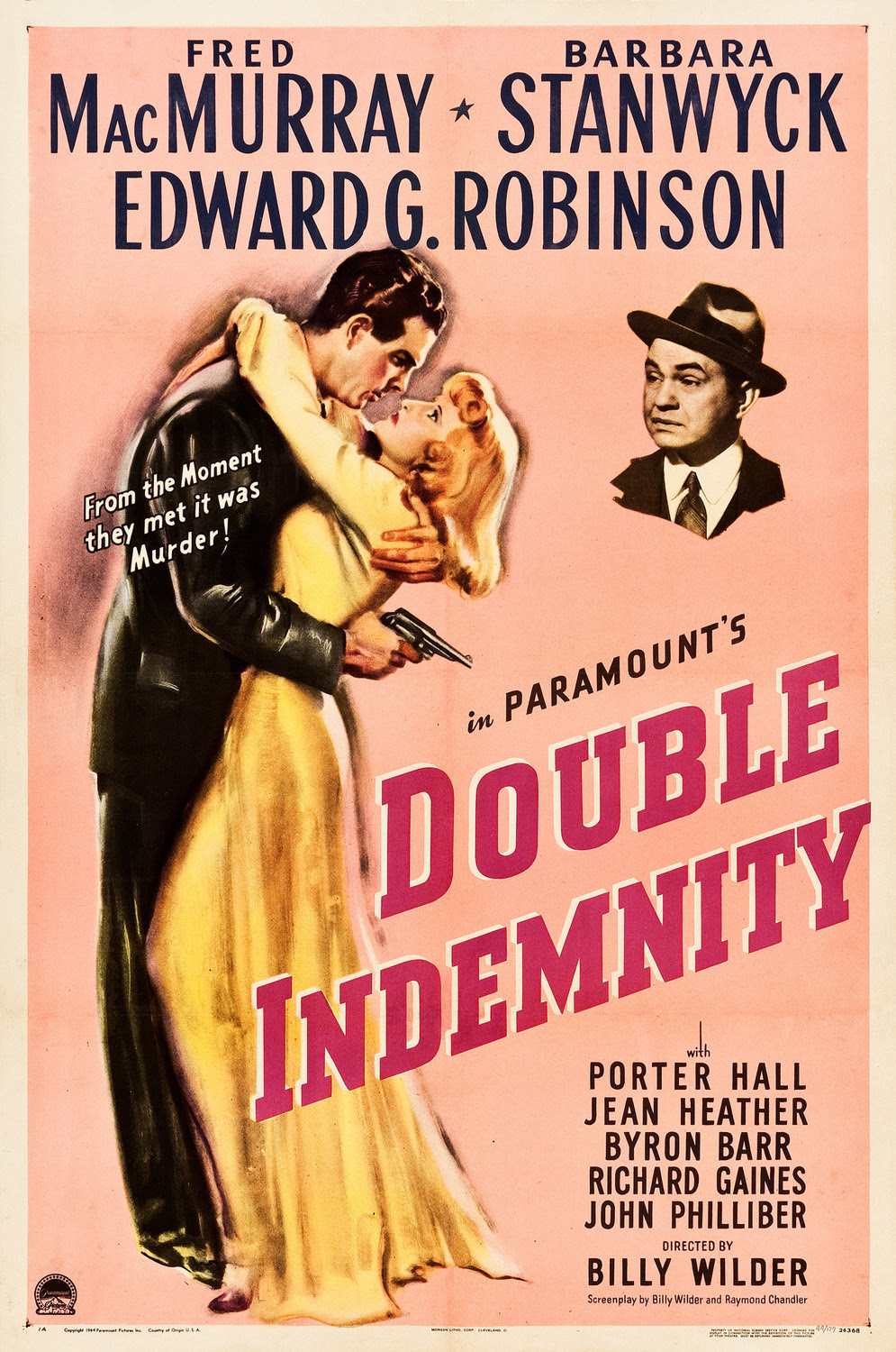 Extra Large Movie Poster Image for Double Indemnity