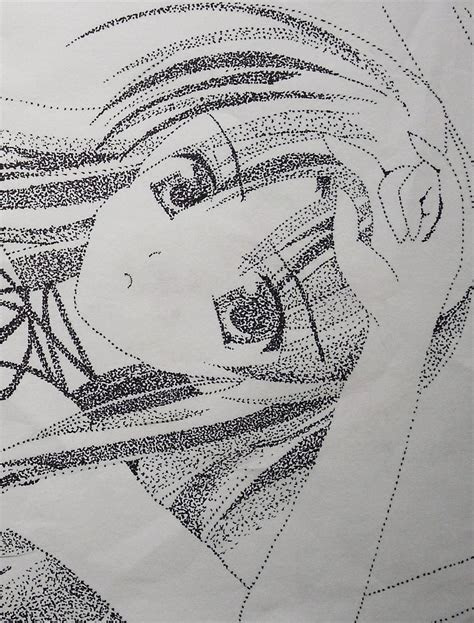 pointillism drawing  manga drawing drawing