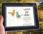 Eco e-vite wedding package - love birds