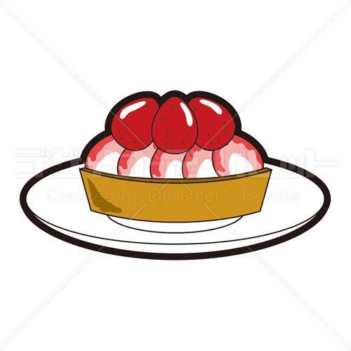 お菓子いちごタルト イラパレロイヤリティフリーのストックイラスト